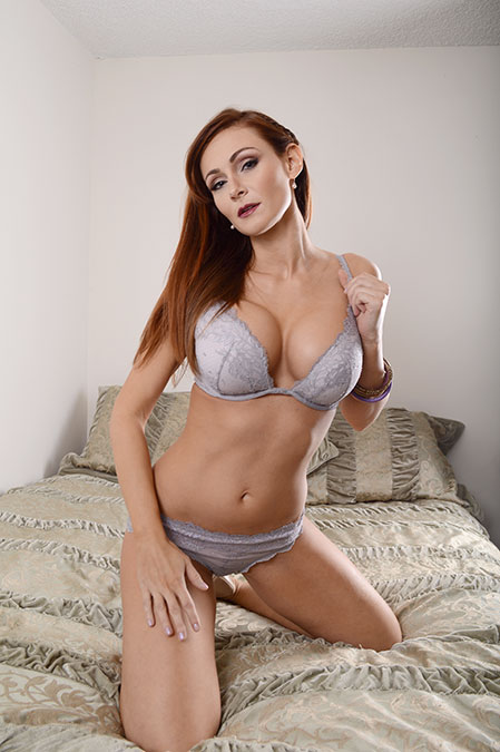 redhead lingerie